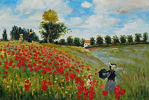 English: Poppy Field in Argenteuil, oil painti...