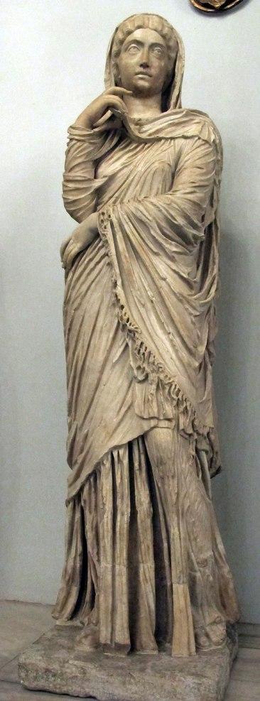 Statue of Roman Empress posing as Pudicitia