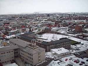 Reykjavík seen from Hallgrímskirkja's steeple