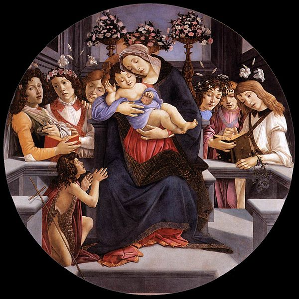 File:Sandro Botticelli - Virgin and Child with Six Angels and the Baptist - WGA02720.jpg