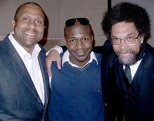 English: Tavis Smiley Andrew Ballen Cornel West