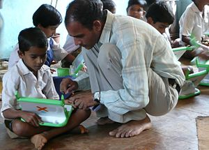 Teacher and student, Khairat (India)