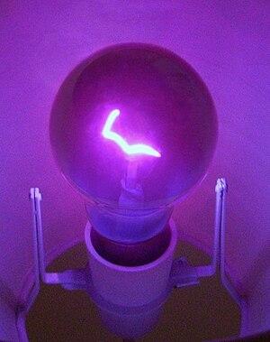 A 100 watt ultraviolet light bulb.