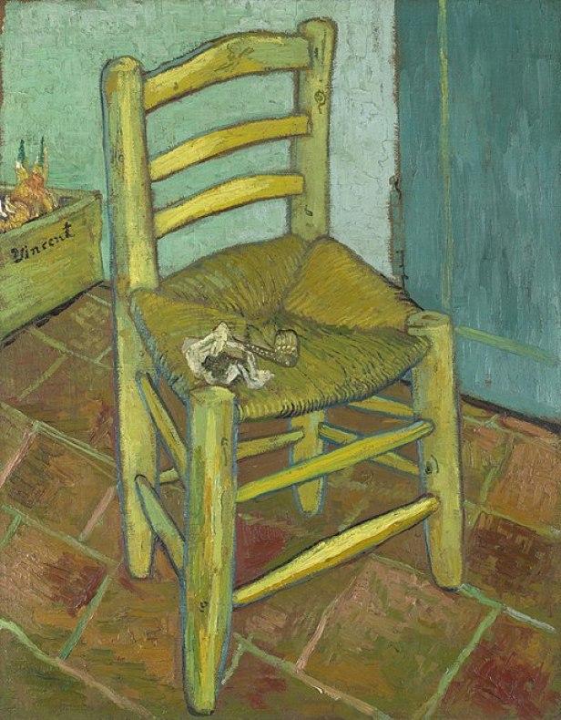 """""""Van Gogh's Chair"""" by Vincent van Gogh"""