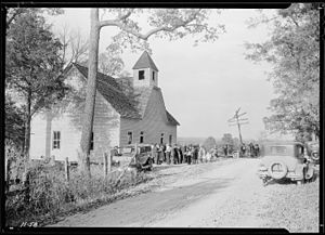 """""""A little country church, Sharps Station ..."""