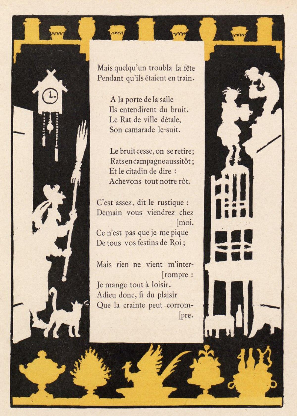 Le Rat Des Villes Et Le Rat Des Champs Morale : villes, champs, morale, File:Avelot, Fables, Fontaine, Ville, Champs, 2.jpg, Wikimedia, Commons