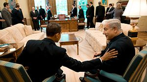 President Barack Obama meets with Israeli Prim...