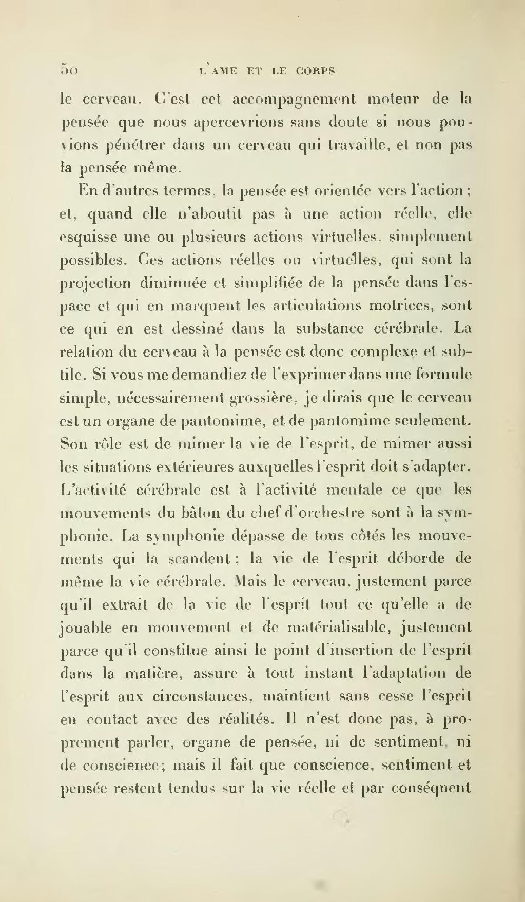 La Conscience Et La Vie Bergson : conscience, bergson, Page:Bergson, L'Énergie, Spirituelle.djvu/64, Wikisource
