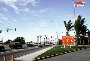 English: The main gate of Camp Pendleton. This...