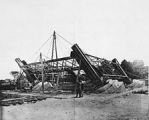 Around January 28, 1887: The start of the erection of the metalwork. (Eiffel Tower)