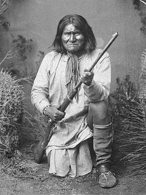 Geronimo, 1887, prominent leader of the Chiric...