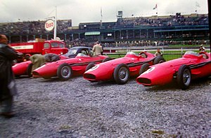 Several Maserati 250Fs on display. These cars ...