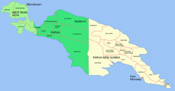 Papua New Guinea shares the island of New Guin...