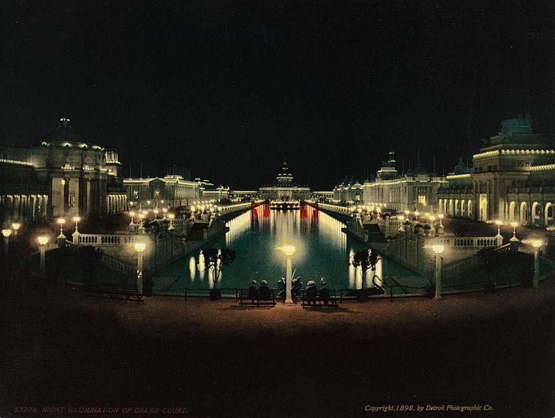 File:Night illumination, Grand Court, Trans-Mississippi and International Exposition, Omaha, Nebraska, 1898.jpg