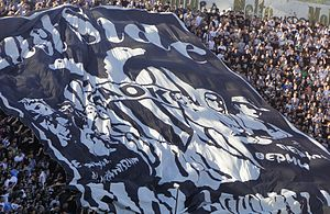 Paok fans in Toumba.