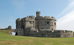 The keep of Pendennis Castle in Falmouth, Corn...