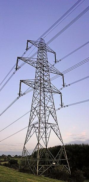 L6 D Electricity transmission tower, near Aust...