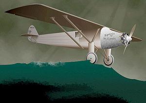 Traversée de l'Atlantique par Charles Lindberg...