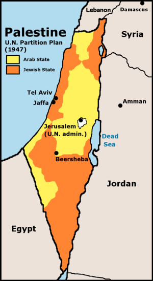 UN 1947 partition plan for Palestine