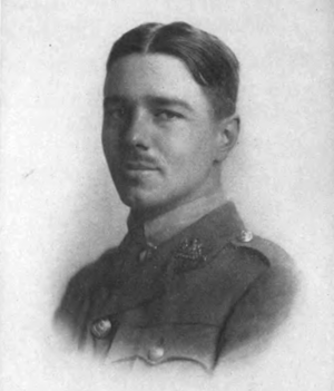 Portrait of Wilfred Owen, found in a collectio...