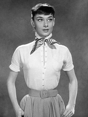 Cropped screenshot of Audrey Hepburn from the ...