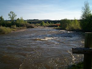 English: Bear River flowing through Bear River...