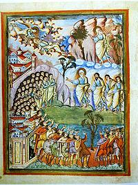 """Portada del Deuteronomio en la """"Biblia de San Paolo""""."""