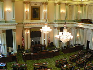California State Assembly chamber