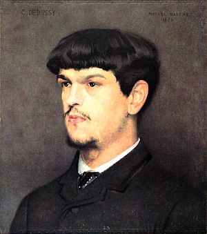 French composer Claude Debussy (1862-1918)