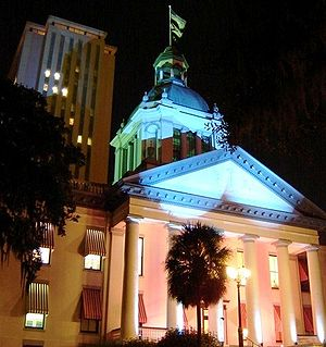 English: Florida Capitol Complex as seen at Night.