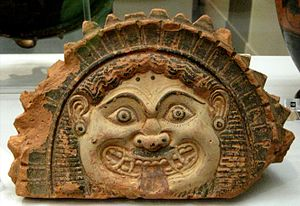 antefix with head of Gorgona. Fasos island (?)...