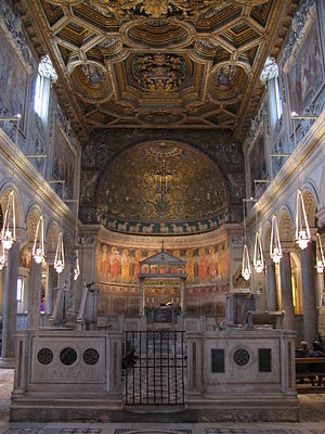 Interior of the Basilica di San Clemente, Rome...