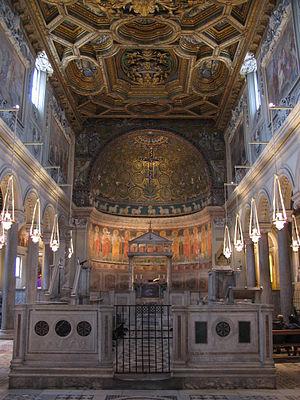 Interior of the Basilica di San Clemente, Rome...
