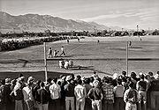 A baseball game at Manzanar, 1943.