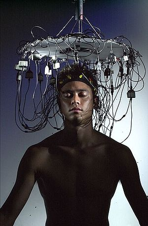 EEG electroencephalophone used during a music ...
