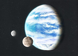 English: image of a hypothetical ocean planet ...