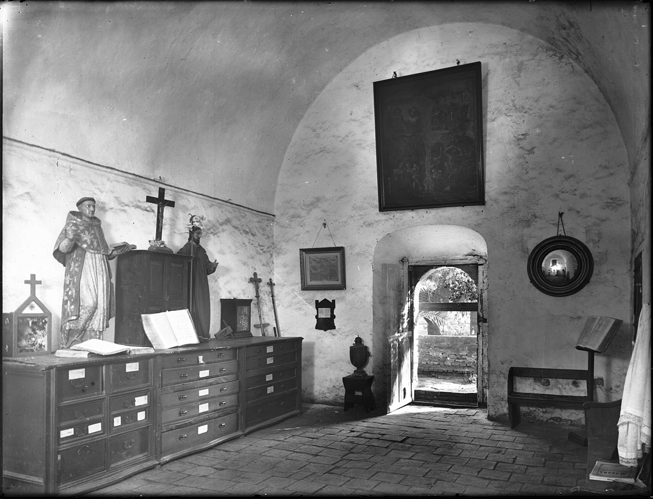 File Sacristy Containing Old Vestments And Relics At