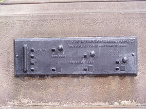 Standards Plaque by Steble Fountain. Liverpool
