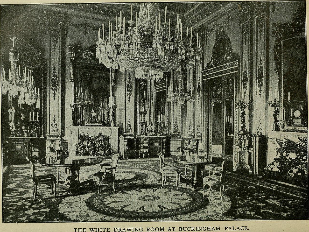 FileThe White Drawing Room at Buckingham Palace c 1901