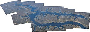 Aerial photomosaic of the Lake of the Ozarks i...