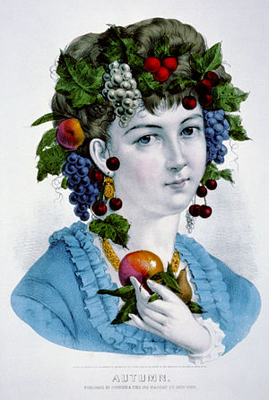 Personification of Autumn (Currier & Ives lith...