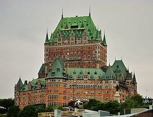 English: A view of the Château Frontenac in Qu...