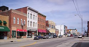 A view of downtown Bucyrus, Ohio on South Sand...