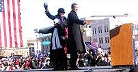Barack Obama and family in Springfield, Illino...