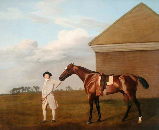 George Stubbs - Firetail with his Trainer by the Rubbing-Down House on Newmarket Heath