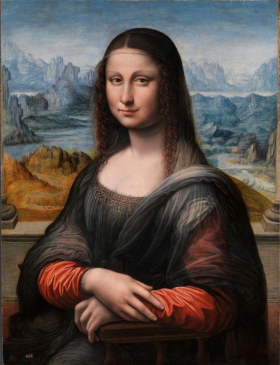 Copia de La Gioconda que se encuentra en el Museo del Prado de Madrid.