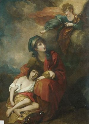 English: Hagar and Ishmael, Benjamin West