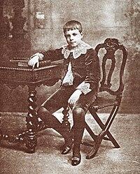 D. Manuel, infante, aos doze anos de idade
