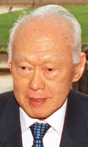 English: Senior Minister Lee Kuan Yew of Singa...