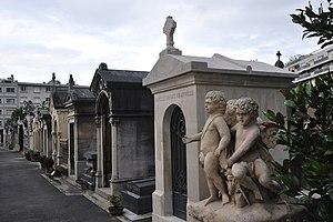 Français : Cimetière de Neuilly-sur-Seine, Hau...